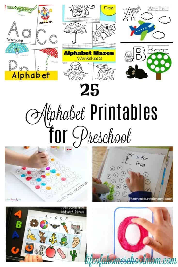 25 Alphabet Printables For Preschoolers Mom For All Seasons