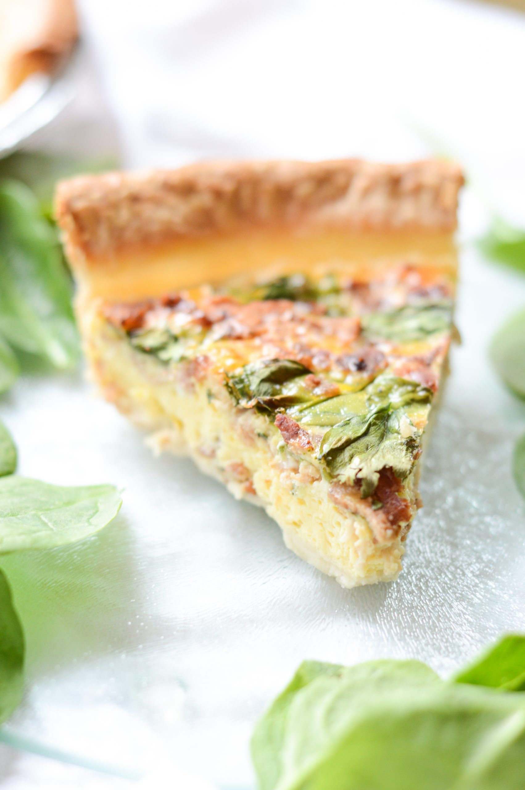 Easy Bacon Spinach Quiche Mom For All Seasons